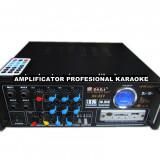 Amplificator audio, 41-80W - AMPLITUNER 80WATT, MP3 USB, RADIO, INT.MIC.KARAOKE, EQ GRAFIC, TELECOMANDA+MICROFON.