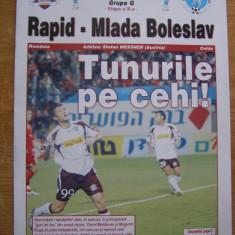 Program meci - Program fotbal Rapid Bucuresti - Mlada Boleslav
