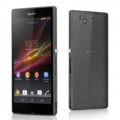 Carcasa mata ultra subtire 0.3mm semi transparenta pentru telefon Sony Xperia Z L36i L36h culoare: negru