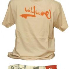 Tricou Quiksilver - Tricou barbati Quiksilver, Marime: M, Culoare: Bej, M, Maneca scurta, Bej