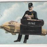 251a. Arad ilustrata cu buzunar - inedit, Circulata, Printata