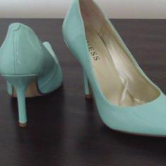 PANTOFI GUESS CYRANO - Pantof dama Guess, Marime: 36.5, Culoare: Turcoaz, Turcoaz
