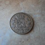 Lot 1. 5 francs / franci 1868 Leopold Belgia, argint