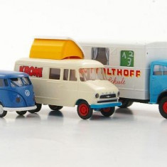 831.Machete Set VW T1b + Opel Blitz + MB L 322 - BREKINA scara 1:87 - Macheta auto
