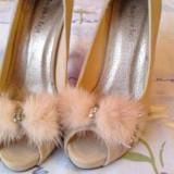Pantofi crem cu talpa rosie - Pantof dama, Marime: 37