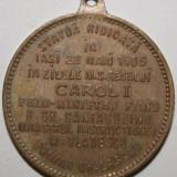 OKAZIE!!! MEDALIE 1905 - INAUGURAREA STATUII LUI VASILE ALECSANDRI DIN IASI - Medalii Romania
