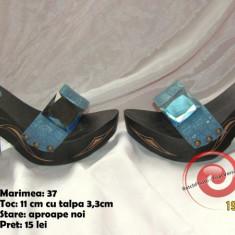 Papuci comozi, sic si de efect! Super Okazie! - Papuci dama, Marime: 37, Culoare: Albastru