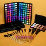 Trusa machiaj farduri 120 culori MAC Set 15 pensule makeup Fond de ten corector - Trusa make up