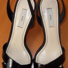 Sandale ZARA nr 36 - Sandale dama Zara, Negru