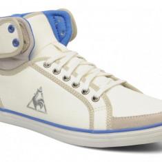 Adidasi inalti Le Coq Sportif-adidasi originali barbati-din panza -cutie-40 - Tenisi barbati Le Coq Sportif, Culoare: Alb, Textil