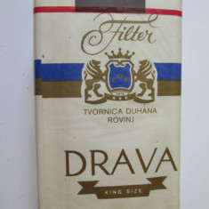 Pachet tigari - PACHET NOU TIGARI COLECTIE DRAVA DIN ANII 80