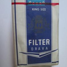 Pachet tigari - PACHET NOU TIGARI COLECTIE FILTER DRAVA DIN ANII 80