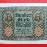 Bancnota Straine, Europa - GERMANIA - 100 Mark 1920
