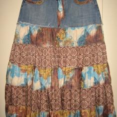 Fusta Outfit denim/pinza colorata Mar M/ L, Culoare: Multicolor, 3/4, Larga
