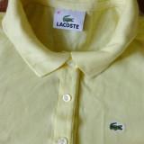 Tricou Lacoste; marime 42: 49 cm bust, 50.5 cm lungime, 38.5 cm umeri; bumbac