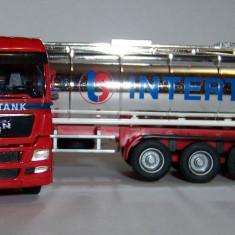 Herpa MAN TG-X cisterna cromata INTERTANK 1:87 - Macheta auto