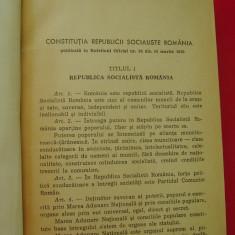 CONSTITUTIA REPUBLICII SOCIALISTE ROMANIA PUBLICATA IN BULETINUL OFICIAL NR 34 DIN 16 MARTIE 1969 . - Carte Drept constitutional