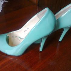Pantofi verzi 35 eleganti - Pantof dama, Culoare: Verde