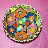 Farfurie ceramica - bol - handmade - lucrata manual - pictata - diam 8 cm, h 3.5cm - TURCIA - 2+1 gratis toate produsele la pret fix - RBK6034