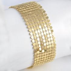 Bratara din aur - Bratara filata cu Aur galben 9k, model deosebit cu 2 fete cod 20054