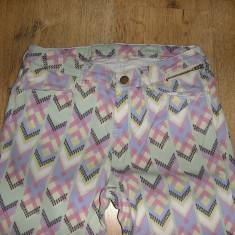 SUPER PRET ! Pantaloni/ blugi vara dama colorati skinny Sz 26/s ! - Blugi dama, Marime: S, Culoare: Multicolor