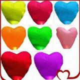 Lampioane in forma de inima 20 bucati / Lampion inimioara