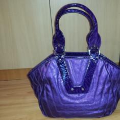 Poseta Versace Versus - Geanta Dama Versace, Mov, Piele, Medie