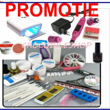 KIT SET UNGHII FALSE GEL UV MANICHIURA ,LAMPA 36W.PILA ELECTRICA