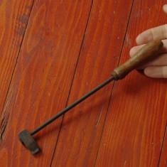 Scule / unelte - Ciocan de lipit - letcon cu maner din lemn si varf de cupru !!! - Metal/Fonta