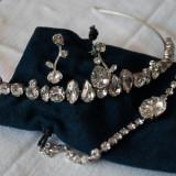 Set tiara, cercei si bratara Carla Brillanti cu cristale Swarovski