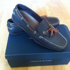 PANTOFI TOMMY HILFINGER MILLER - Pantofi barbati Tommy Hilfiger, Marime: 40.5, Culoare: Albastru, Piele naturala