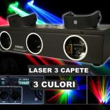 PROMOTIE ! SUPER LASER 3 CAPETE ROSU+VERDE+ALBASTRU,LASER DE PUTERE,DISCO,CLUB,DJ