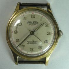 Ceas de mana - MALAZ WATCH GENEVE - VINTAGE - CEAS ELVETIAN DE COLECTIE - MODEL ANII 1960 - DIAMETRUL 34 MM - STARE DE FUNCTIONARE