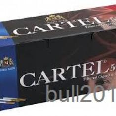 Foite tigari - TUBURI CARTEL 500 tuburi, filtre tigari / cutie, pentru injectat tutun, tigari