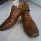 PANTOFI Konstantin Starke 44, 5 NOI - Pantofi barbati, Culoare: Maro, Piele naturala