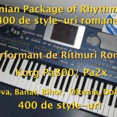 Orga - Ritmuri Korg Pa800/Pa2x - Set Ritmuri Complet și Performant