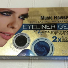 Tus ochi - Eyeliner Gel, Tus de ochi gel, Music Flower Smudge Proof Eye Studio 2xColor