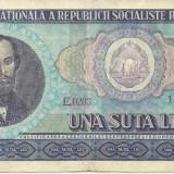 ROMANIA- 100 LEI 1966- seria E0203- 128210