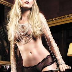 Lenjerie sexy femei - Chilotei pe Solduri - Baci Boxeri Negri cu Margine din Dantela Neagra-Rosie 1102 - marime Small/Medium
