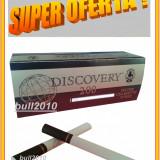 Foite tigari - 5 X TUBURI TIGARI DISCOVERY, filtre 1.000 tuburi tigari pentru injectat tutun