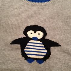 Pulovar bluza copii 104/110 cm, 4-5 ani, marca BONPRIX, Gri, Unisex