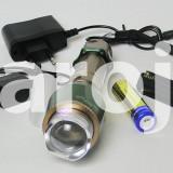 Lanterna cu Led Cree  cu acumulator + Incarcator Masina + Charge
