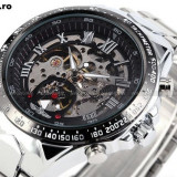CEAS AUTOMATIC WINNER TM432 STEAMPUNK TACHYMETER SILVER SKELETON-MODEL 2016 !!