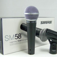 Microfon Shure Incorporated metalic SHURE SM58 Profesional + geanta transport
