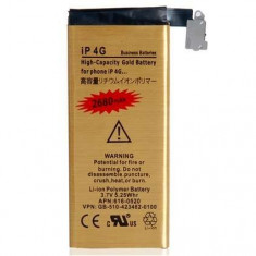 Baterie telefon - Acumulator De Putere iPhone 4 2680 mAh Gold