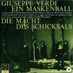 Giuseppe Verdi - Ein Maskenball / Die Macht Des Schicksals (Vinyl) - Muzica Clasica decca classics, VINIL