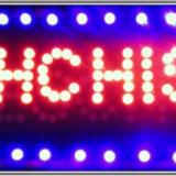 Reclama luminoasa LED DESCHIS+INCHIS