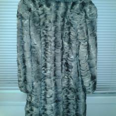 Vand haina blana chinchilla - Palton dama, Marime: 48, Culoare: Argintiu