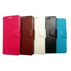 Husa telefon, Alb, Piele Ecologica, Toc, Cu clapeta - Husa Allview V1 VIPER i Flip Case Inchidere Magnetica White