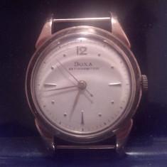 Ceas Barbatesc Doxa, Elegant, Mecanic-Automatic, Aur, Analog, 1940 - 1969 - Ceas Doxa aur model anii 50, Doxa vintage